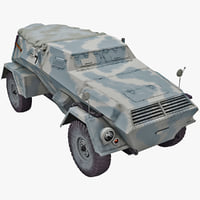 kfz 247 armored car 3d 3ds