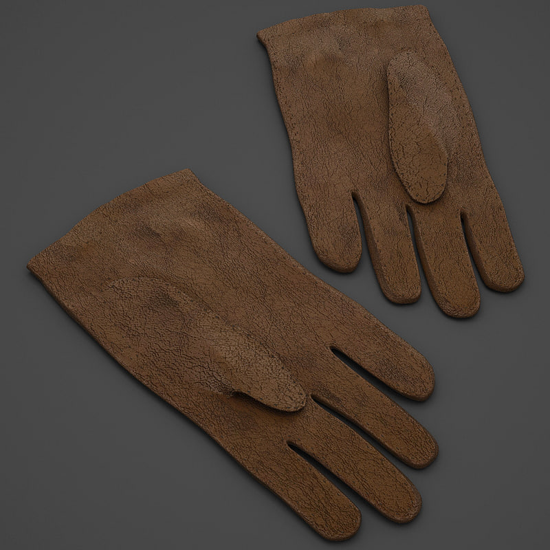3dsmax leather gloves