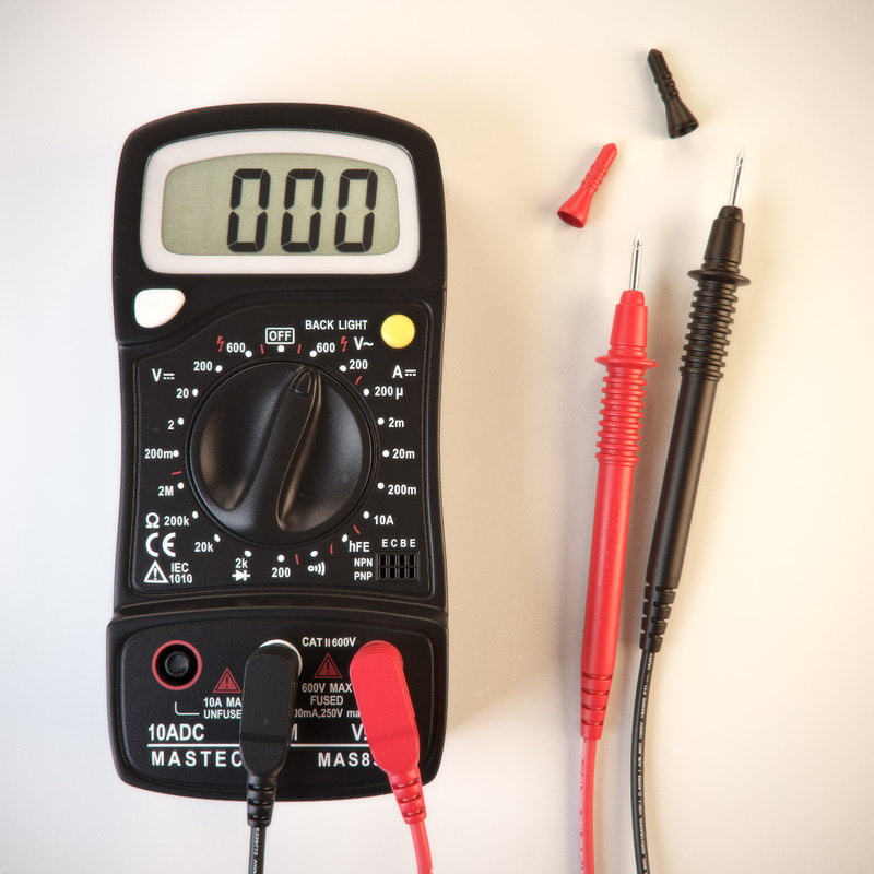 3d model of digital multimeter mastech 830l