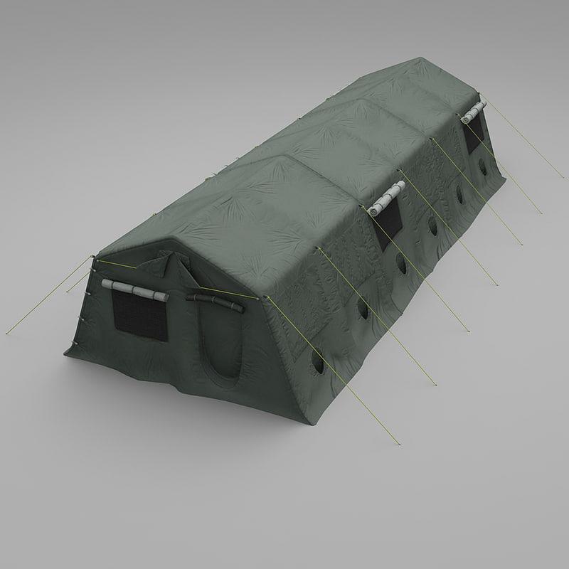 3dsmax military tent
