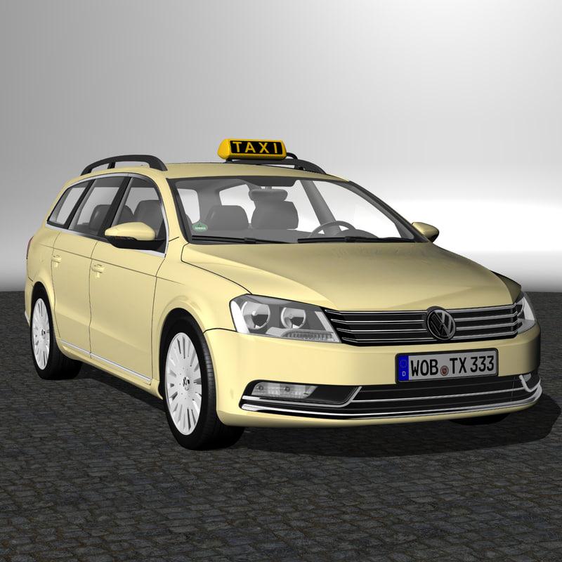 3d passat variant 2012 taxi