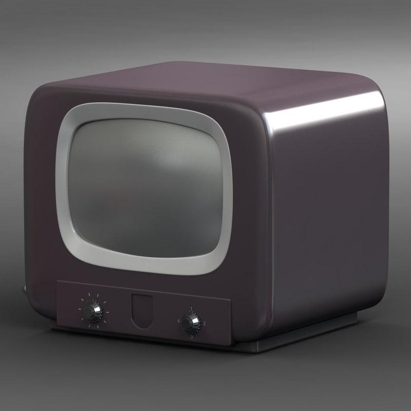 retro tv 3 3d model
