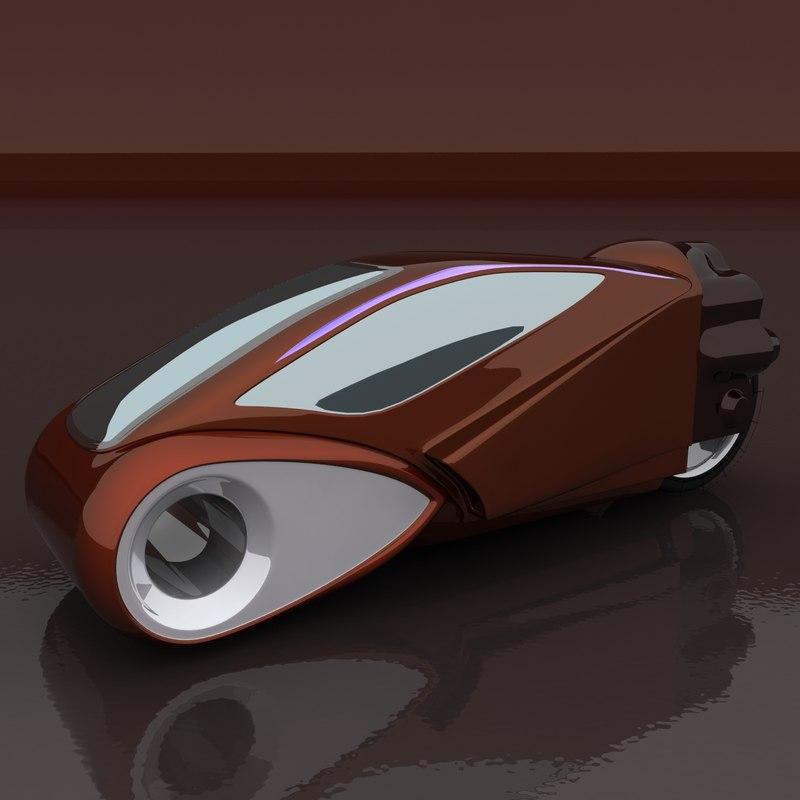 futuristic motorbike 3d model