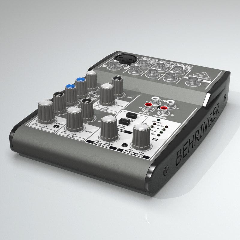 3d model mixing xenyx 502
