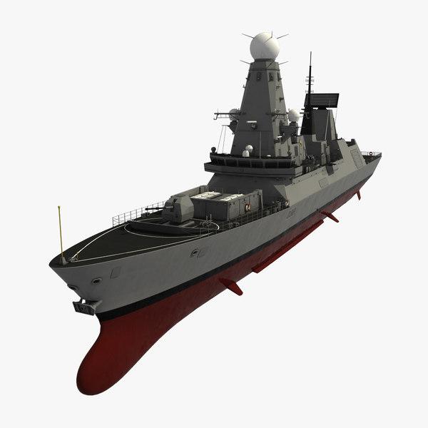 3d max type 45 destroyer