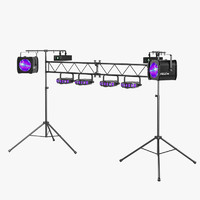 3d model of dj lighting package