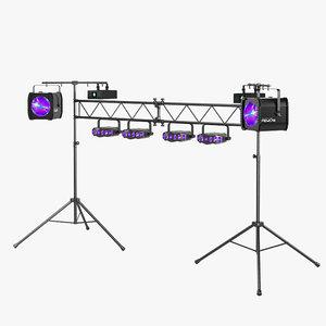 3d model of dj lighting package