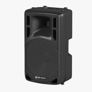 3ds max qtx portable speaker
