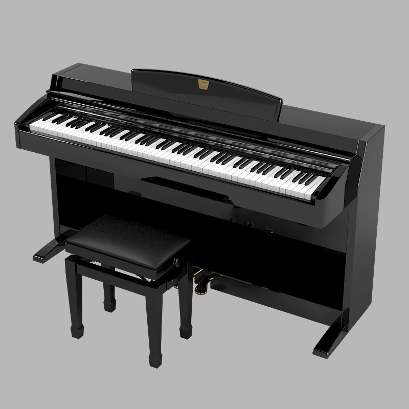 Yamaha clavinova digital piano 3d model for Yamaha piano keyboard models