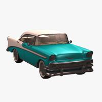 3d model chevrolet 1956