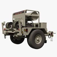 3d military landa trailer pressure model