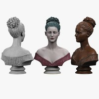 decorative bust lady 3d max
