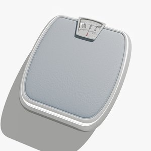 personal weight scale 3d model