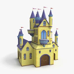 3d castle cartoon