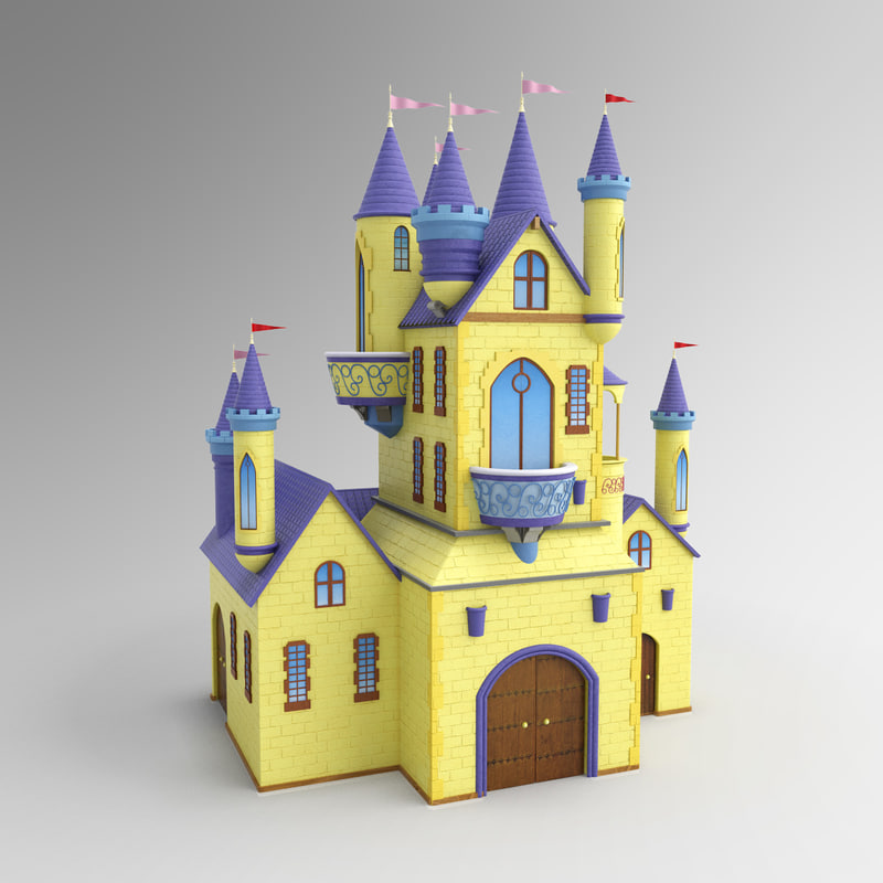 3d castle cartoon