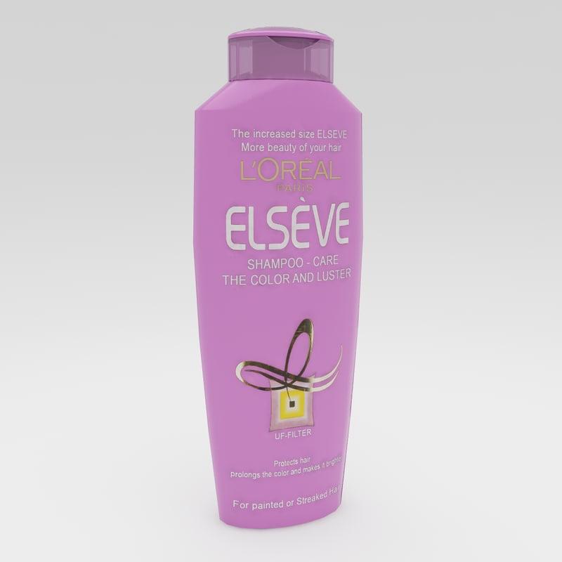 elseve shampoo 3d max