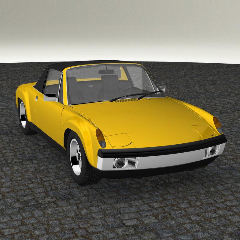 3d porsche 914 gt model
