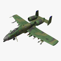 fairchild republic a-10a thunderbolt 3d model