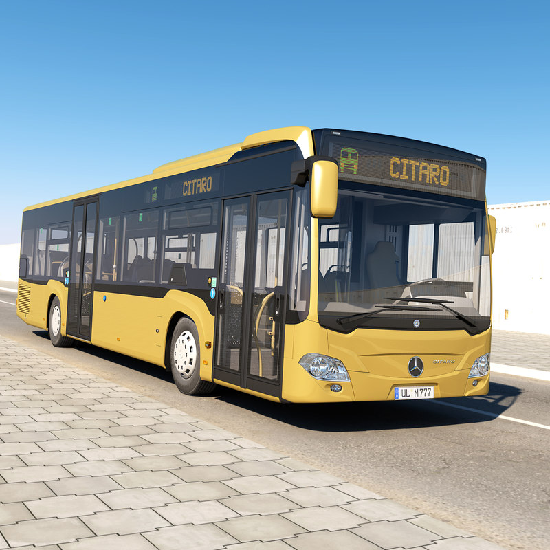 3d model realistic mercedes-benz citaro 2011