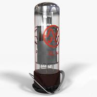 el34 vacuum tube 3d max