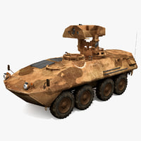 3d model lav 25 piranha