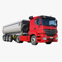 3d mercedes-benz axor 1843 tipper model