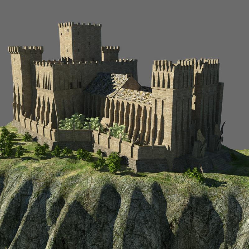 medieval castle 3d max