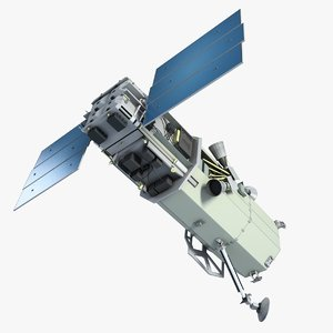 3d space satellite 1 model