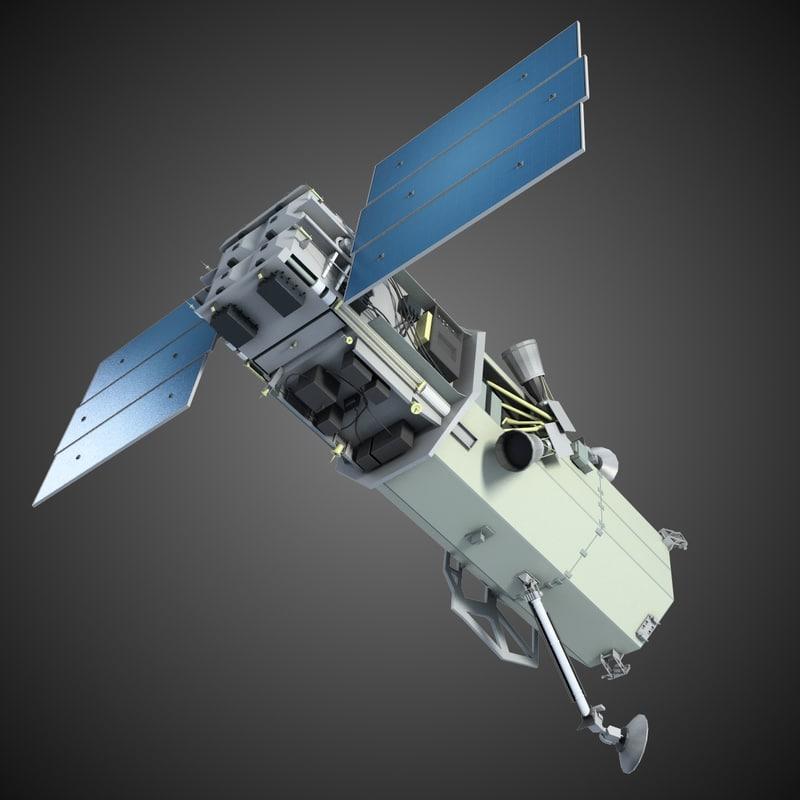 3d space satellite 1 model