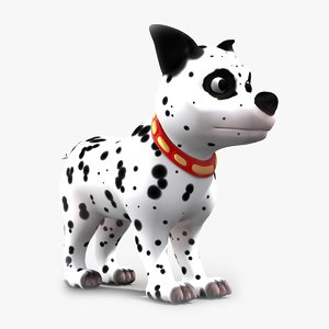 obj cartoon dalmatian dog