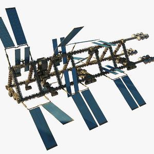 3d model sci-fi station space