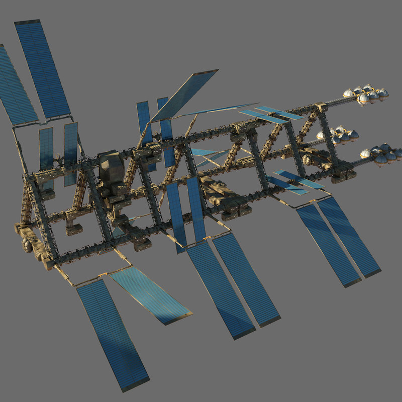 3d model sci-fi station space