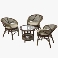 x wicker garden furniture set
