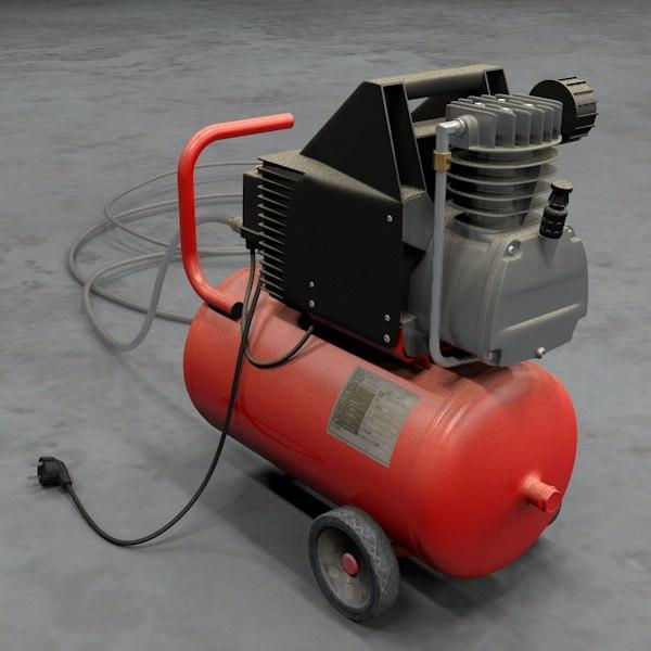 compressor machine c4d