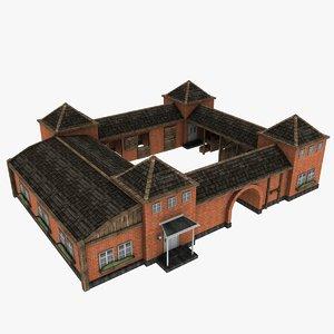 horse breeding farmhouse 3d model