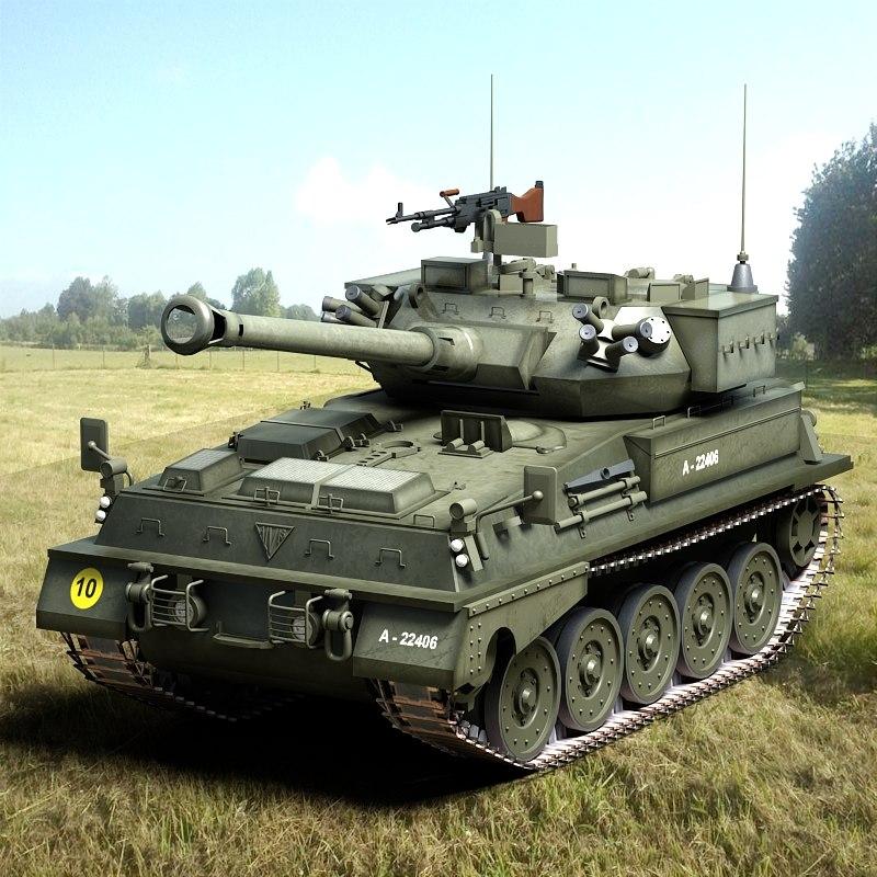 3d british scorpion 90 t model