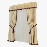 classic curtain 3d model