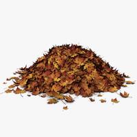 3d pile leaves model