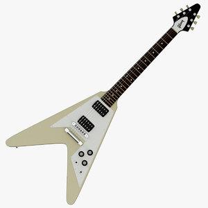 3d model gibson flying v electric guitar