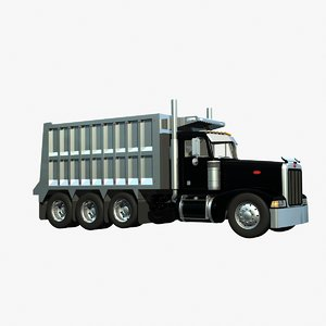 3d model 377 dump truck