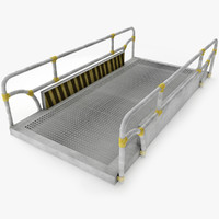 modular industrial catwalk 3d model