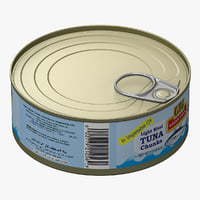 3d model of canned tuna 3