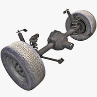 3d car suspension