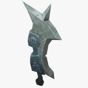 3d model of fantasy sword