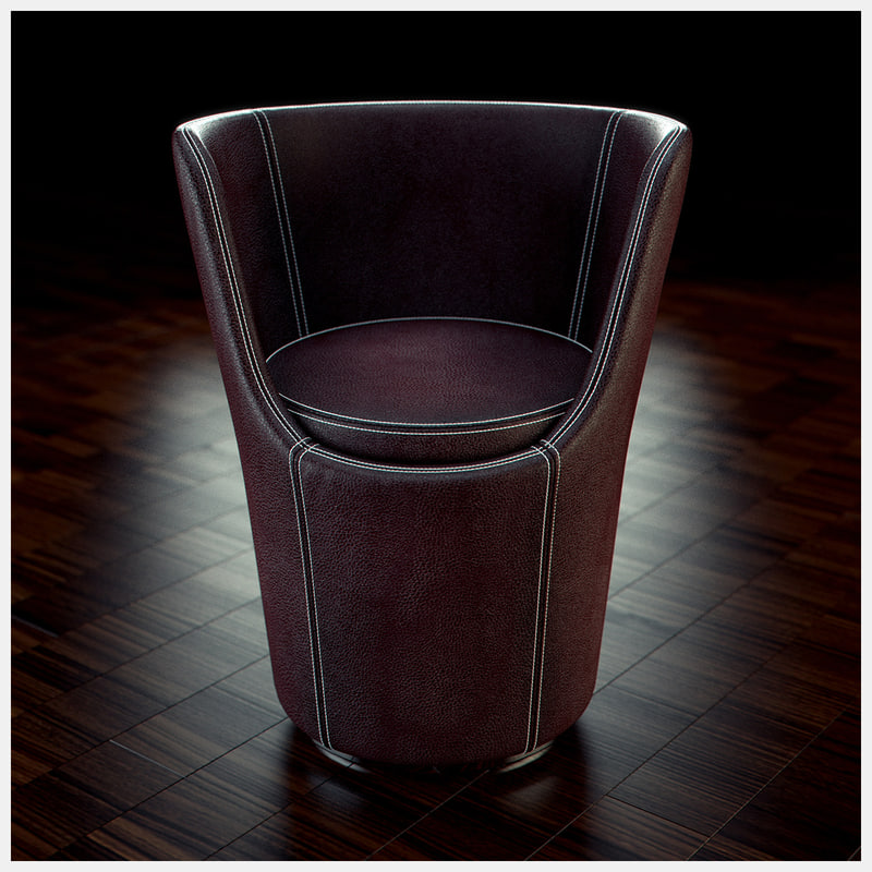 3d model porada diva chair