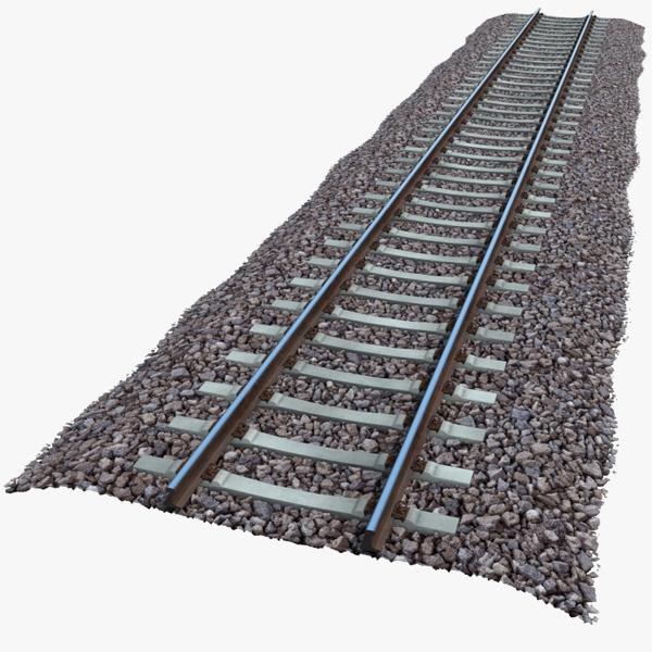 3d model gauge railway