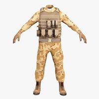 sas soldier clothes 3 c4d