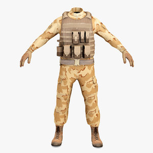 sas soldier clothes 3 c4d