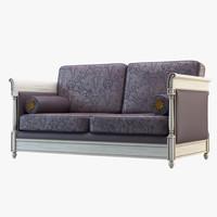 sofa florial wood 3d max