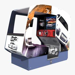 3d arcade racer machine